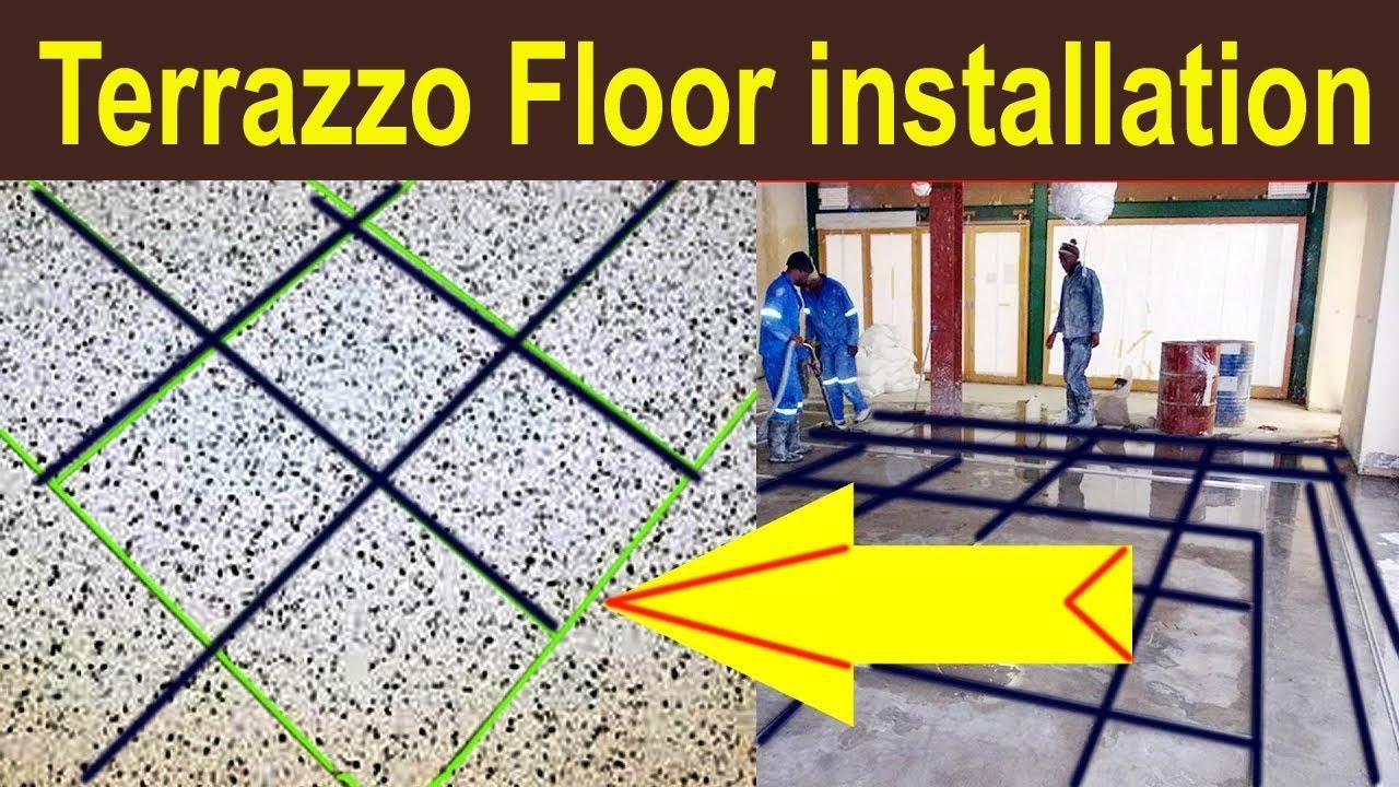 Terrazzo Flooring Installation Terrazzo Floor Terrazo Flooring Video