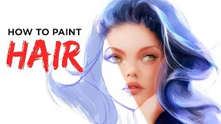 How To Paint Hair - Digital Painting Tutorial