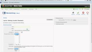 Joomla 1.5 WebDev | Joomla 1.5 | Menüeintrag in Joomla 1.5