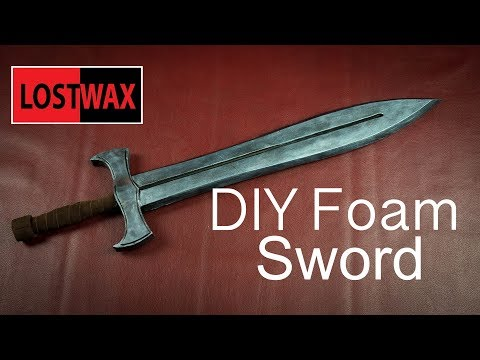 How To Make Foam Swords. Cosplay Prop Ideas With Templates! -Not Intended For LARP Or Combat.