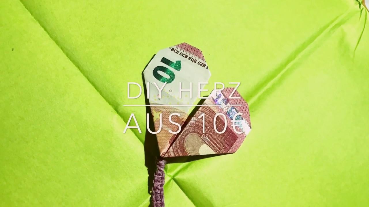 DIY Herz aus 10€ / Origami mit Geld || DIY Queens⚜️