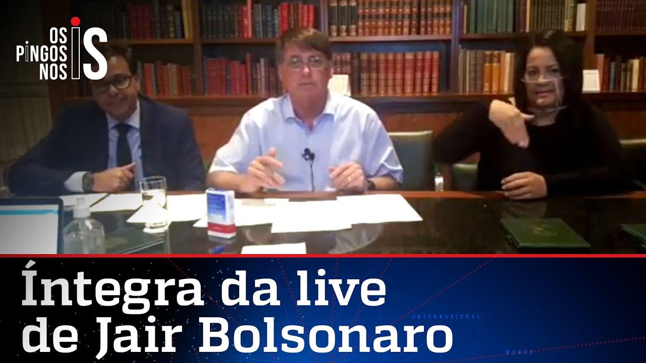 Íntegra da live de Jair Bolsonaro de 13/08/20