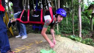 jungle canopy zip line in bohol philippines