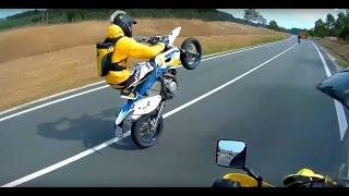 Wheelie Bastards - Suzuki DRZ 400 SM crash