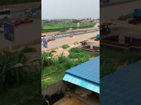 Inondation à Abidjan (Yopougon Gesco)