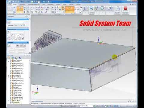 Solid Edge Sheetmetal Blechbearbeitung Teil 1 Youtube