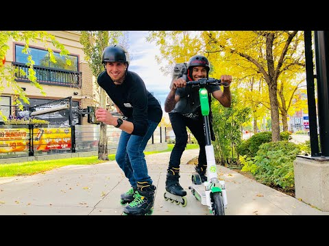 Electric Scooter VS Rollerblades - Team Flow Skate