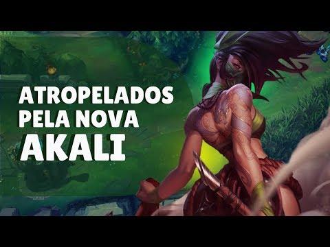 NOVA AKALI DESTRÓI NO COMPETITIVO DE LEAGUE OF LEGENDS thumbnail