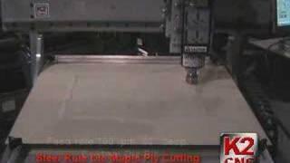 K2 Cnc - Steel Rule Die - Wood Cutting - Mach 3