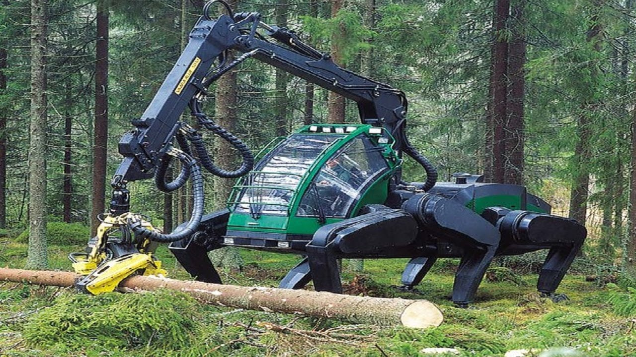 Modern Technology Harvest Big Tree Machine - Skill Long Reach Excavator Machine Working