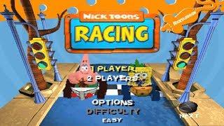 NickToons Racing PS1 Gameplay HD (Beetle PSX HW) - Смотреть