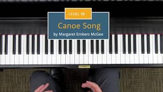 Canoe Song Level 1B Piano Repertoire Demo Hoffman Academy