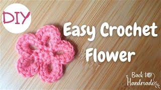 Ροζέτα με βελονάκι - Easy crochet flower