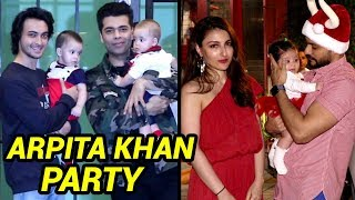 Karan Johar's TWINS, Soha Ali Khan's Baby Inaaya at Christmas Party