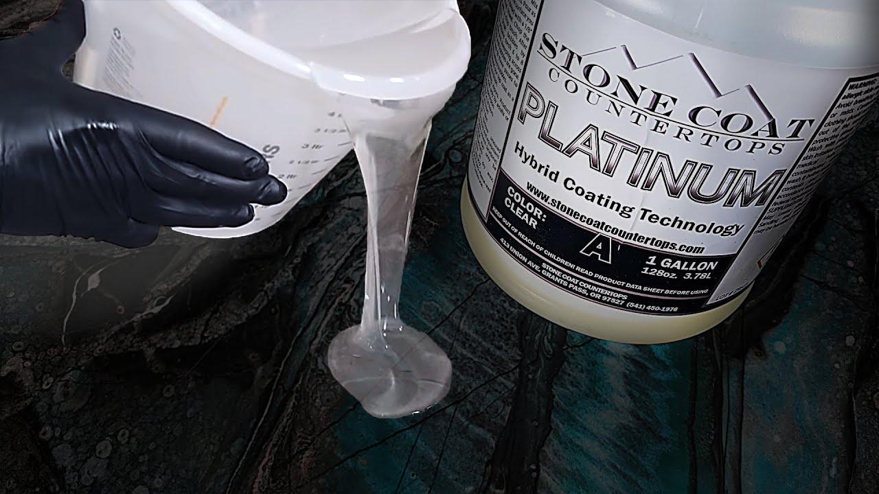 Stone Coat Training Step 3: Clear Coat   Stone Coat Epoxy