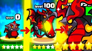 HOW STRONG IS THE STRONGEST DRAGON MONSTER EVOLUTION? (9999+ MINIONS LEVEL) l Summoner's Greed