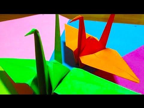 Como Hacer Una Grulla De Papel Facil Paso A Paso En Origami Youtube