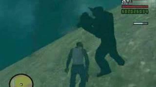 GTA San Andreas Bigfoot + UFO