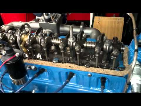 Rebuilt 1941 Chevy 216 Idling - YouTube
