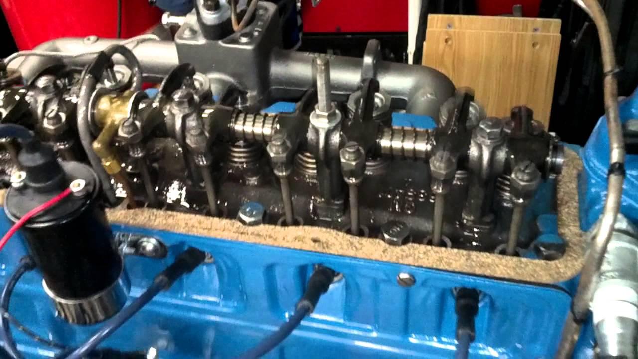 rebuilt 1941 chevy 216 idling