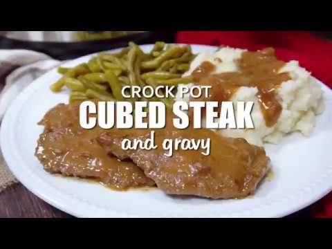 How To Make: Crock Pot Cubed Steak And Gravy