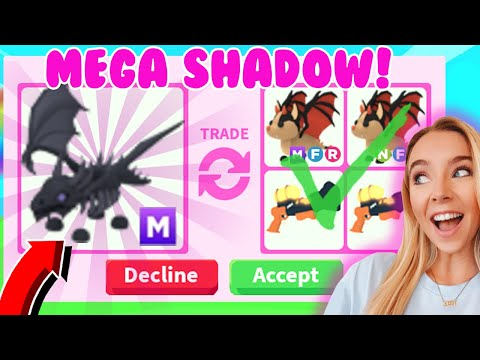 Trading My *MEGA* SHADOW DRAGON In RICH Adopt Me Servers!
