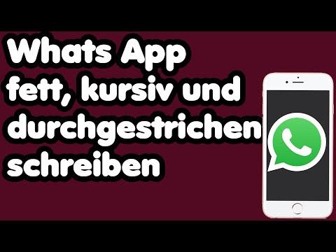 WhatsApp fett, kursiv und durchgestrichen schreiben | Whatsapp Tipps und Tricks | Textformatierung