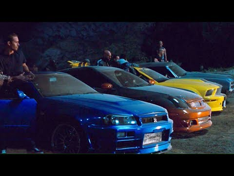 FAST and FURIOUS 4 - Tunnel Race (Chevelle vs GT-R vs Gran Torino vs Mustang vs G35) #1080HD