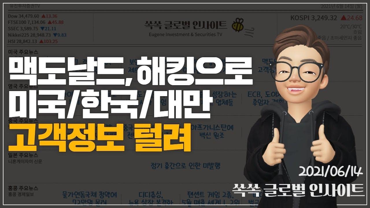 6월 14일(월) 글로벌뉴스 ▶ G7ㅣ보잉 재고ㅣ737맥스ㅣ반독점 법안ㅣ아마존 분사ㅣ맥도날드ㅣ바이든ㅣ도쿄올림픽 자원봉사자ㅣ엔드리스 아일ㅣECBㅣ도이치ㅣ후베이성 가스폭발ㅣ디디츄싱ㅣ