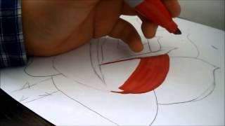 how to draw a rose!