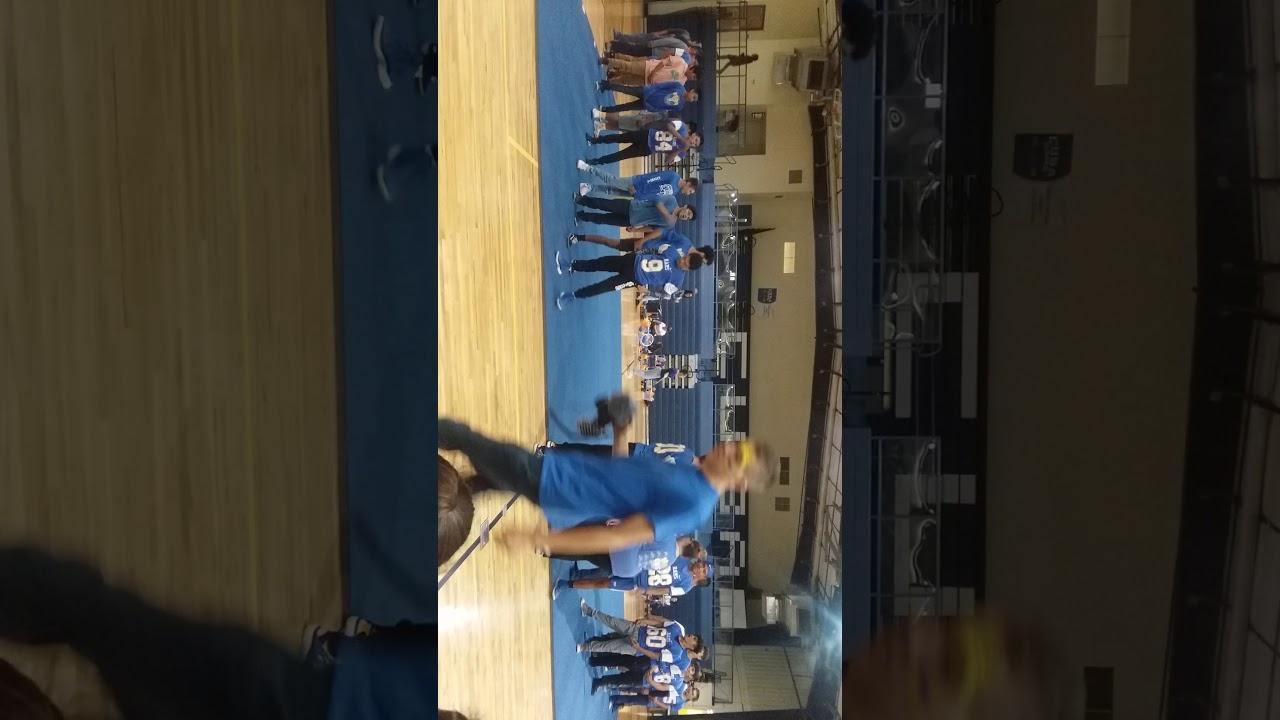 2019 CHS homecoming pep rally dance preformed by the CHS rams football team
