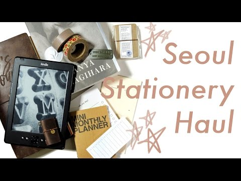 Seoul Stationery Haul | Midori Traveler's Notebook