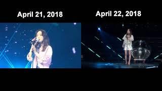 SNSD Taeyeon Apr 21, 2018 vs Apr 22, 2018 ( I ) - Stafaband