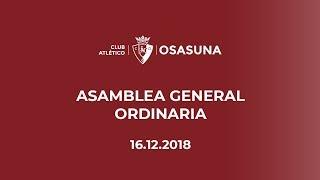 Asamblea General Ordinaria 16-12-18