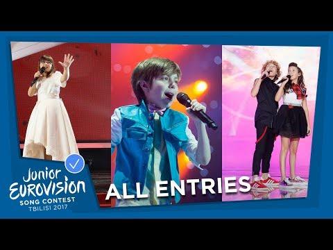 ALL JUNIOR EUROVISION SONGS FROM ALBANIA 🇦🇱  / AZERBAIJAN 🇦🇿  / ISRAEL 🇮🇱