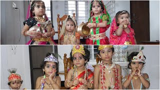 Krishnastami Celebrations | Kuchelan Offering Poha to Krishna | Kids Striking Vutti