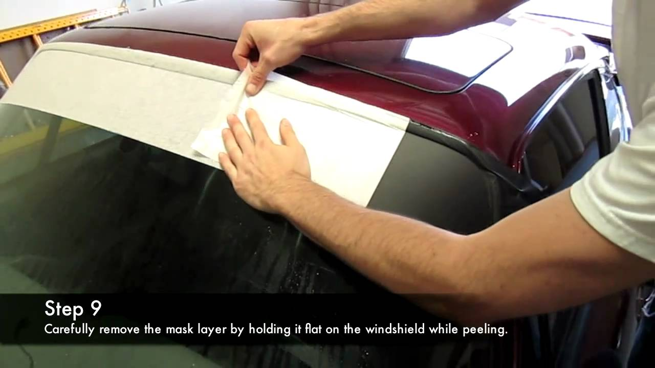 Porsche Vinyl Windshield Visor Strip Install Youtube