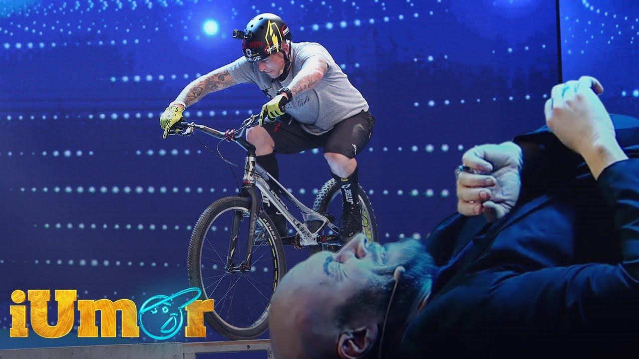 Orban Barra-Gabor, acrobație pe o bicicletă cu o roată! Bendeac și-a pus din nou viață în pericol!