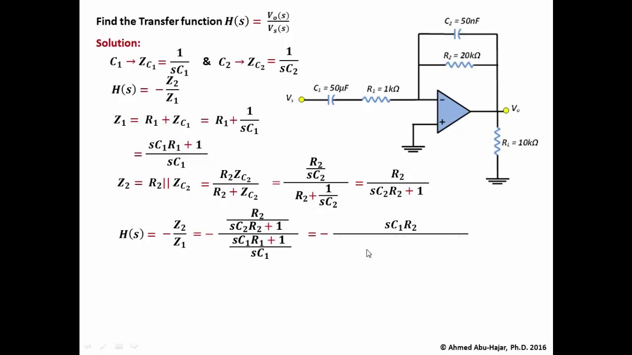 OPAmp Example Bandpass Filter YouTube