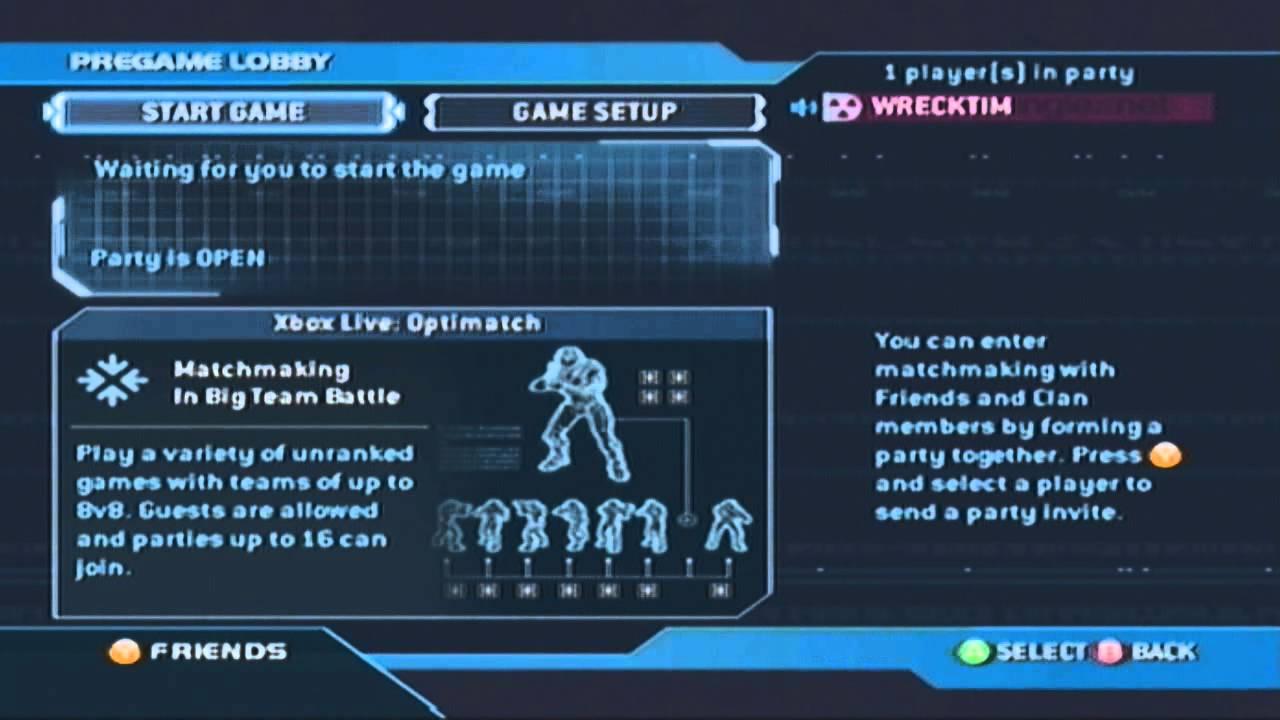 Halo 2 matchmaking werkt niet