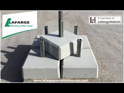 Concrete Sign Post Base Edmonton Alberta Lafarge Precast