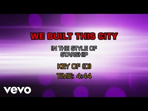 Starship - We Built This City (Karaoke)