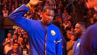 [NBA] Warriors Introduction - Oklahoma City Thunder vs Golden State Warriors - 1/18/17