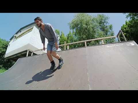 Как кататься в скейт-парке на роликах