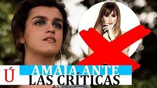 La respuesta de Amaia ante las críticas por 'pasar' de Aitana, Cepeda o Alfred García