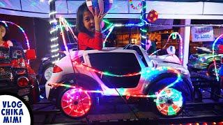 Bermain Naik Mobil Balap Odong Odong Lampu Warna Warni Cantik