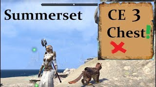 ESO Summerset CE 3 Map Treasure Chest Location! (PTS)