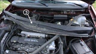 Как заменить воздушный фильтр кабины на Opel Astra