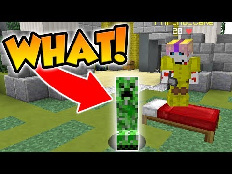 PLAYING AS A CREEPER IN MINECRAFT BED WARS!