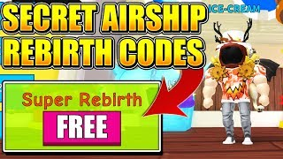 AIRSHIP SUPER REBIRTH CODES IN ICE CREAM SIMULATOR UPDATE! (Roblox) *INFINITE REBIRTHS*